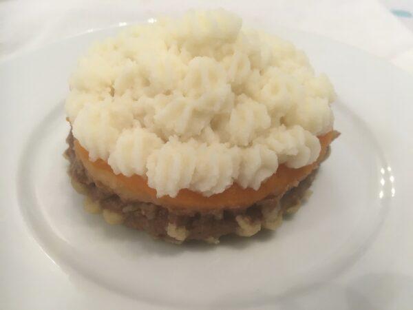 Deconstructed Cornish pasty Level 4 puree.