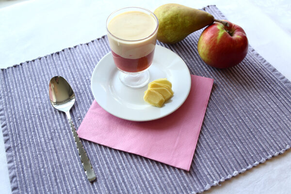 Rhubarb and ginger fool – level four puree